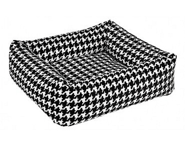 Ascot Black Check Microvelvet Dutchie Bed