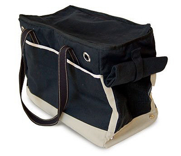 Big Black Canvas Dog Tote Bag