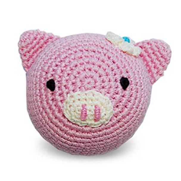Pink Piggy PAWer Squeaker Dog Toy