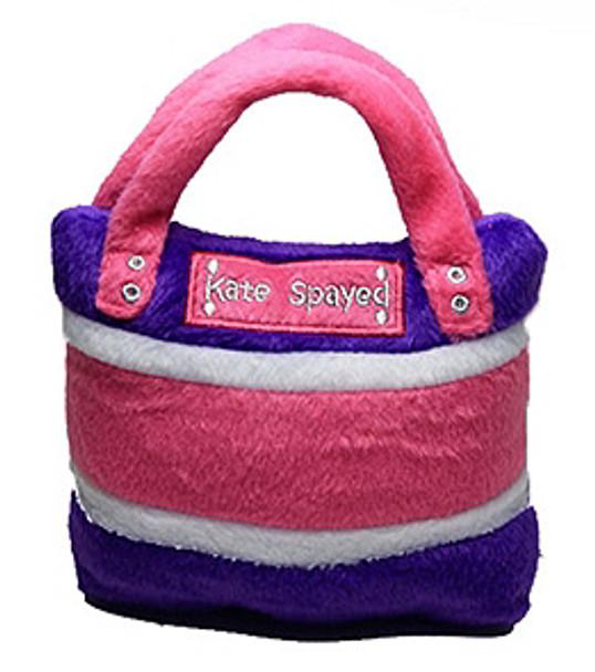 Kate Spayed Bag Purse Dog Toy