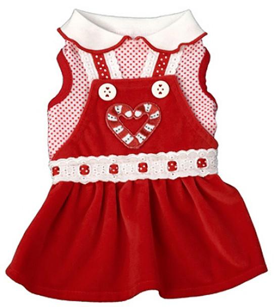 Winter Wonderland Red Velvet Dress by Ruff Ruff Couture