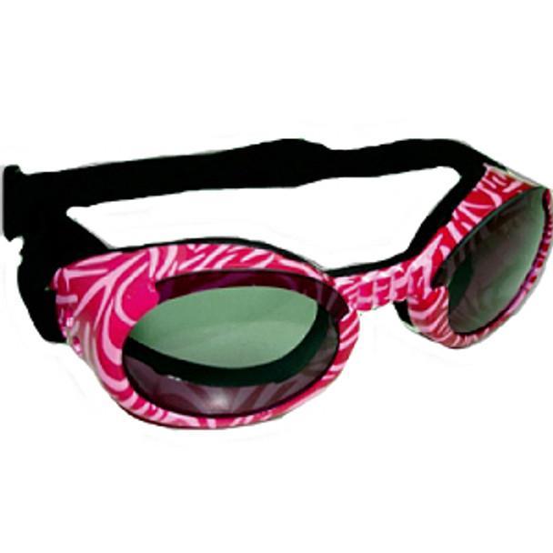 Pink Zebra Doggles ILS Dog Sunglasses