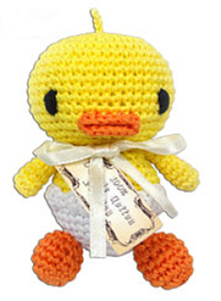 Hatch the Baby Duck Organic Cotton Crocheted Dog Toys