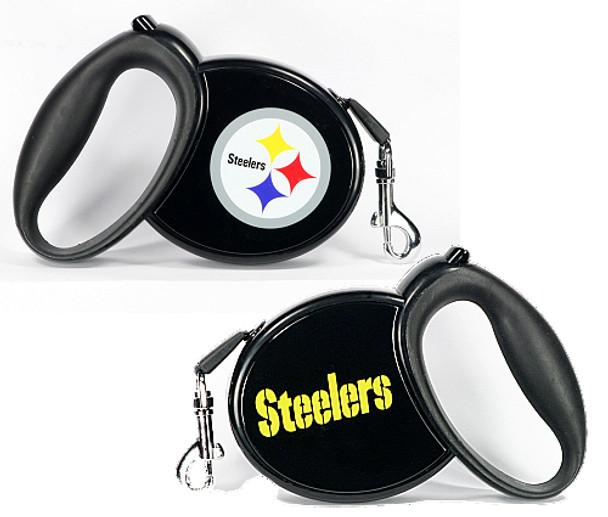NFL Pittsburg Steelers Retractable Dog Leash