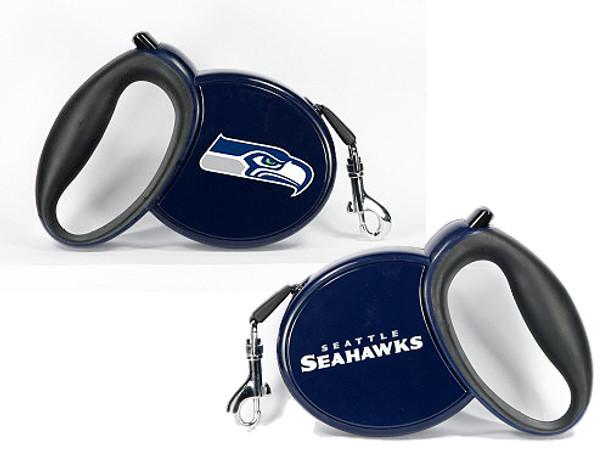 NFL Seattle Seahawks Retractable Dog Leash