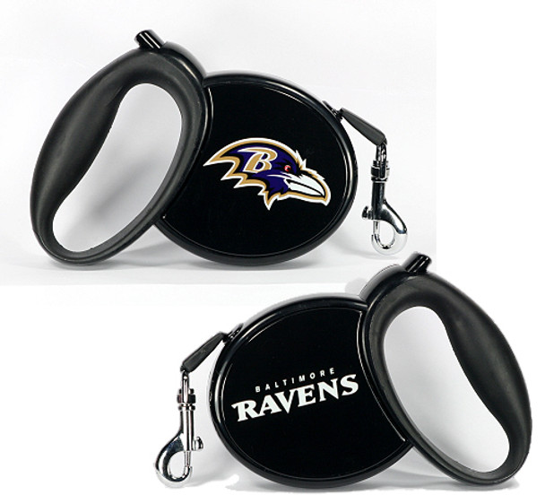 NFL Baltimore Ravens Retractable Dog Leash
