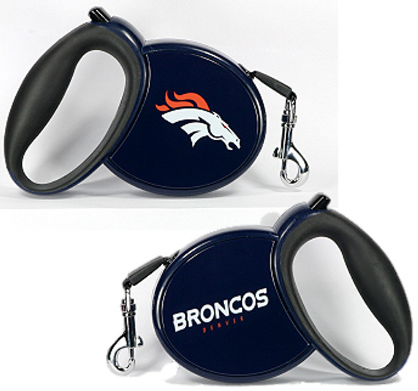 NFL Denver Broncos Retractable Dog Leash