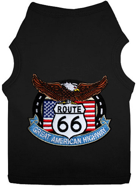 Route 66 Patch Dog Tank T-shirt