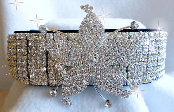 The Britney Velvet and Crystal Dog Collar