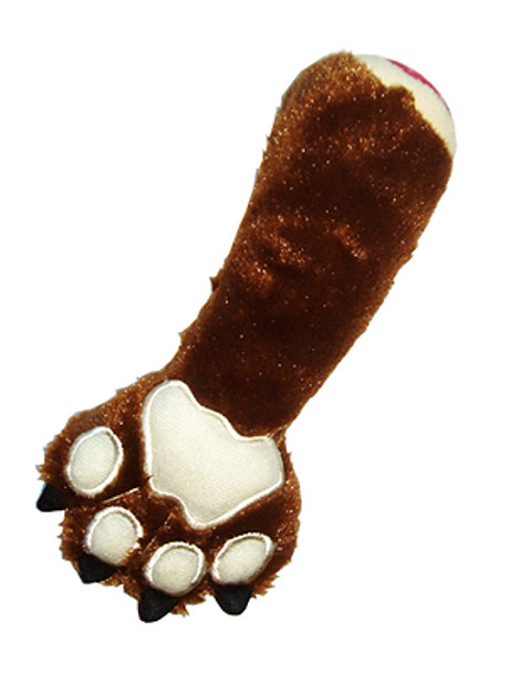 Bear Claw Plush Dog Toy with Squeaker