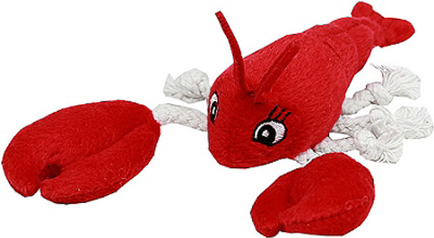 Plush Red Lobster Dog Toy