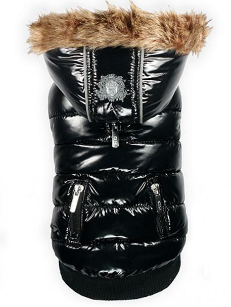 Elite Black Shiny Reflective Dog Coat
