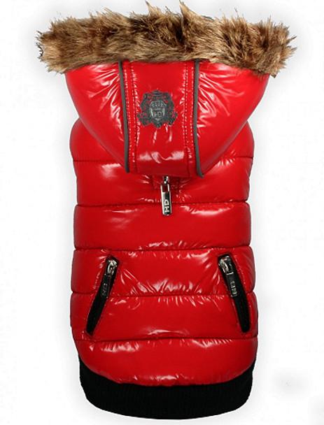 Elite Red Shiny Reflective Dog Coat