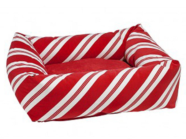 Peppermint Stripe Microvelvet Dutchie Bed