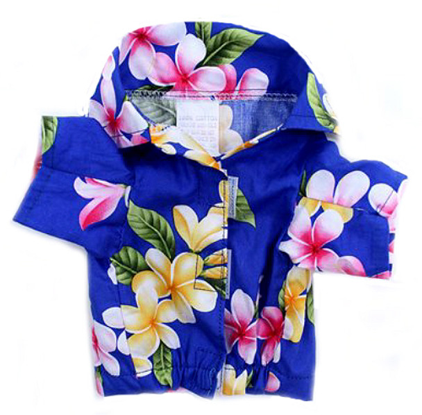 Royal Blue Hawaiian Dog Shirt