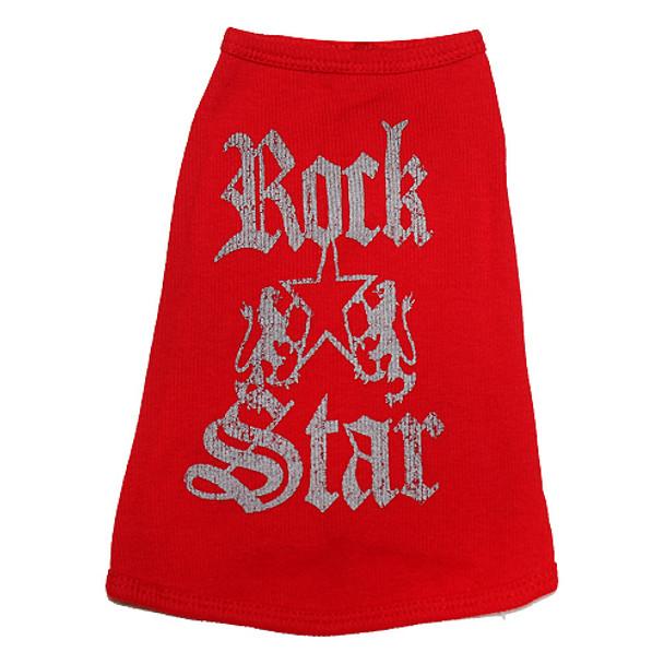Rock Star Red Dog Tank Top
