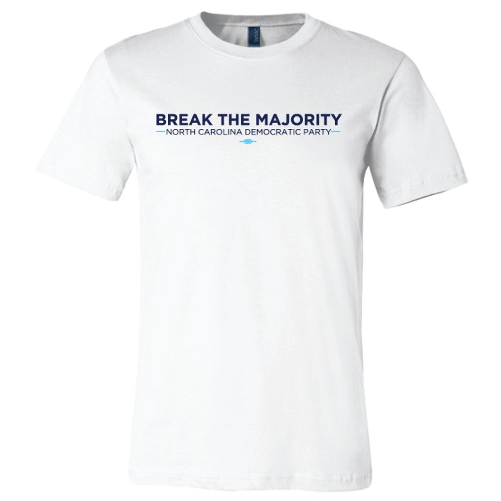 Break The Majority (on White Tee)