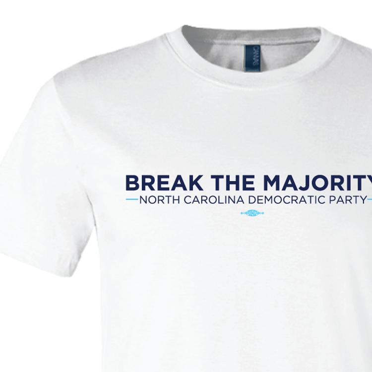 Break The Majority (on White Tee)