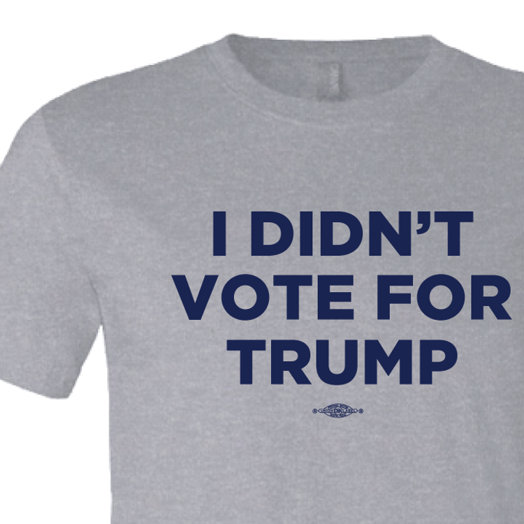I Didn't Vote For Trump (on Athletic Heather Tee)
