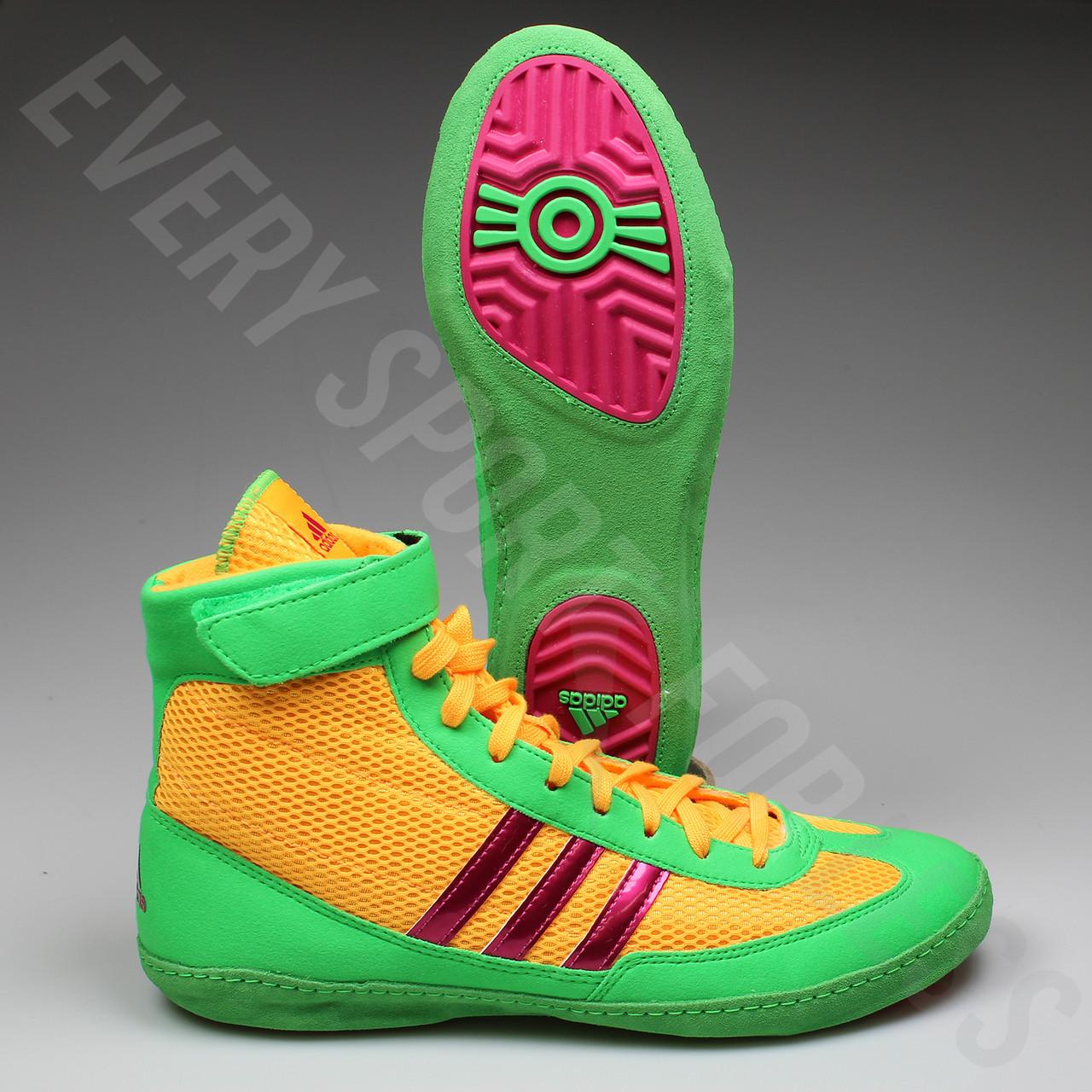 ... australia adidas combat speed 4 wrestling shoes aq3059 gold pink lime  d854d d9a18 b1f1dd176