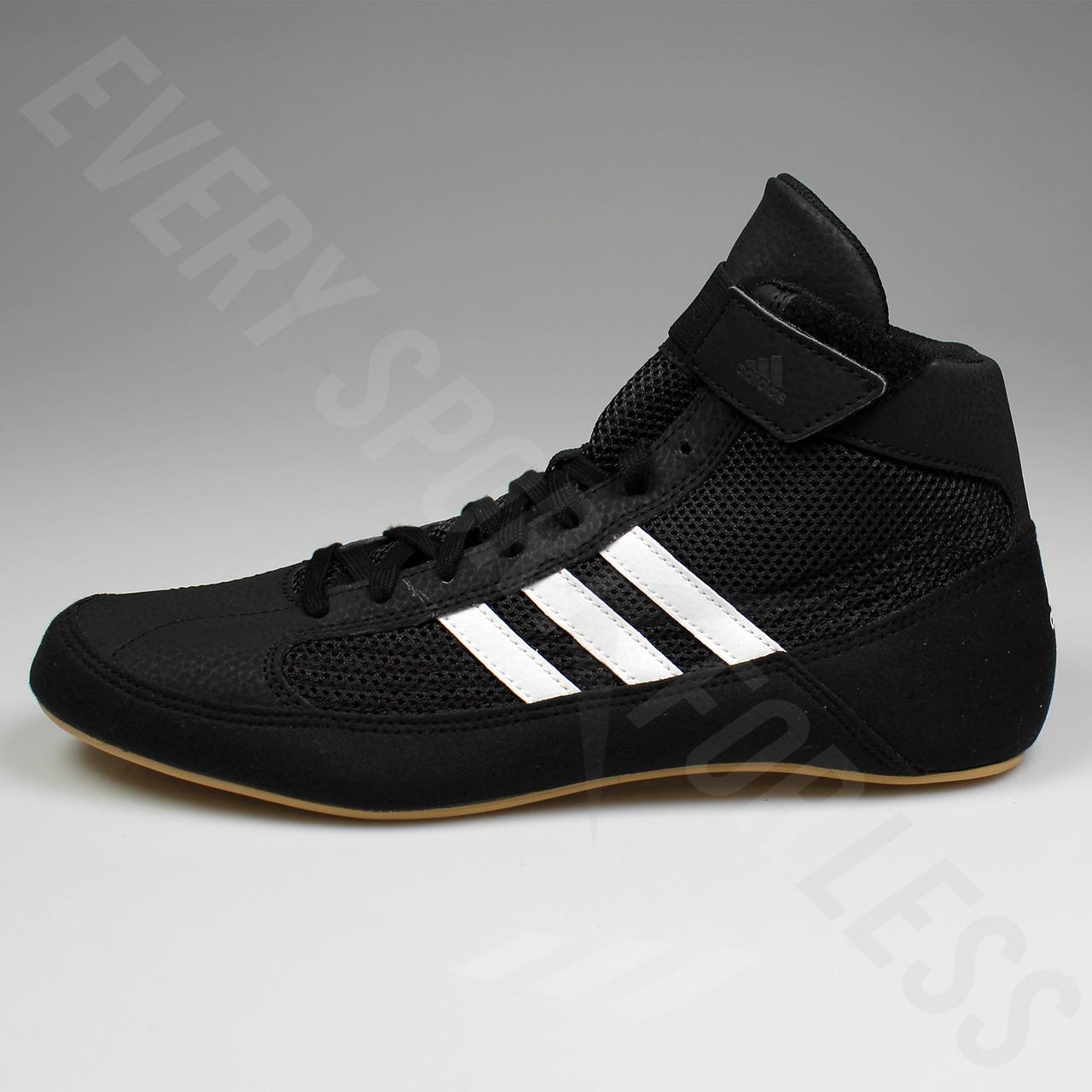 Adidas HVC Men Wrestling Shoes Black White Gum