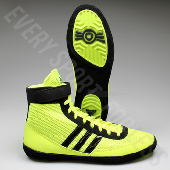 Adidas Combat Speed 4 Wrestling Shoe S77933 -Solar Yellow/Black