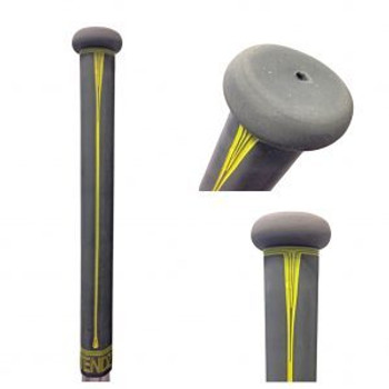 Buttendz Paradox Lacrosse Stick Grip - Gray and Yellow Drip