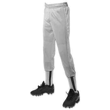 Champro Adult Men's Performance Pull-Up Baseball Pants - Grey