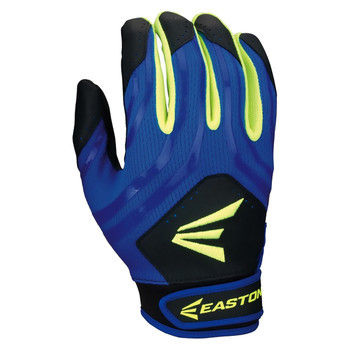 Easton HF3 Youth Hyperskin Batting Gloves - Black/Blue/Optic Yellow
