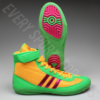 Adidas Combat Speed 4 Wrestling Shoes AQ3059 -Gold/Pink/Lime