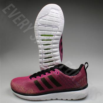 Adidas CloudFoam Super Flex Women's Running Shoe AW4207 - Pink/Black/White