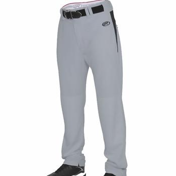 Rawlings Men's  Baseball / Softball Pants Open Bottom - Grey, Black