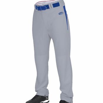 Rawlings Men's Baseball / Softball Pants Open Bottom - Grey, Royal