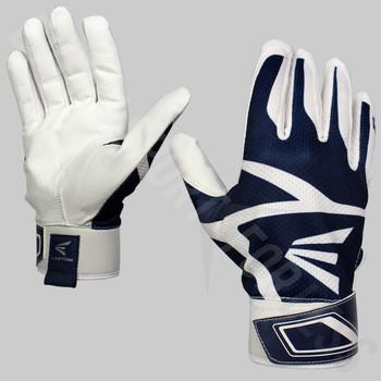 Easton Z3 Hyperskin Senior Baseball / Softball Batting Gloves - White / Navy