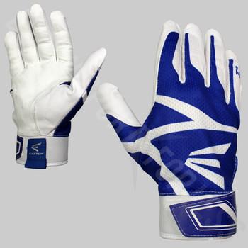 Easton Z3 Hyperskin Senior Baseball / Softball Batting Gloves - White / Royal