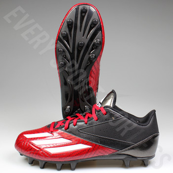 Adidas Adizero 5-Star Low D70176 Football / Lacrosse Cleats - Red / White / Black