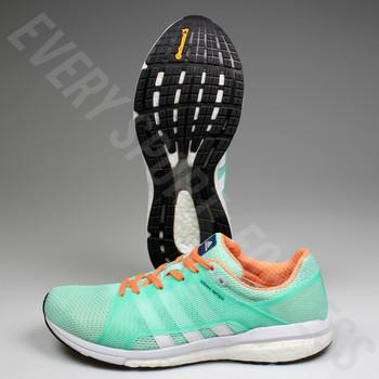 Adidas Adizero Tempo 8 Womens Running Shoes / Sneakers BA8095 - Green / White / Orange