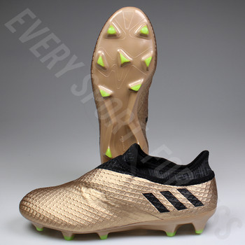 Adidas Messi 16+ Pureagility FG Mens Soccer Cleats BA9821 - Black / Copper