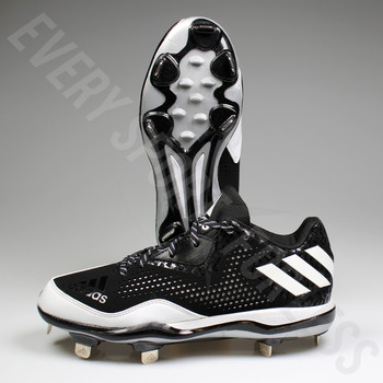 Adidas Power Alley 4 low Mens Baseball Cleats Q16481 - Black / White, Two Pair Side View
