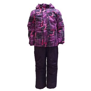 Pulse Junior Youth Slam Snow Suit Combo - Purple Plaid