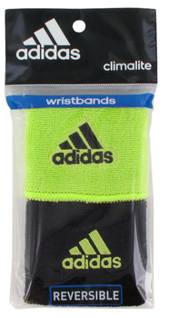 Adidas Interval Reversible Wristband - Lime Green,Black