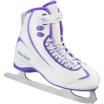 Riedell 625 Soar Softboot Womens Figure Skates - White / Purple