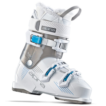 Alpina Ruby 65 Women's Heated Ski Boot - White, Grey