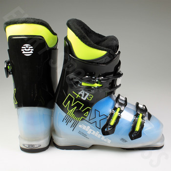 Alpina AJ3 MAX Junior Ski Boot - Black, Blue