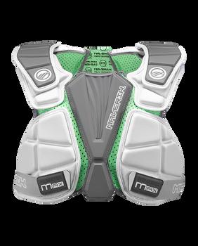 Maverik Max Speed Senior Lacrosse Shoulder Pads - White, Gray