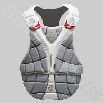 Maverik Rome RX3 Goalie Lacrosse Chest Protector - White, Gray