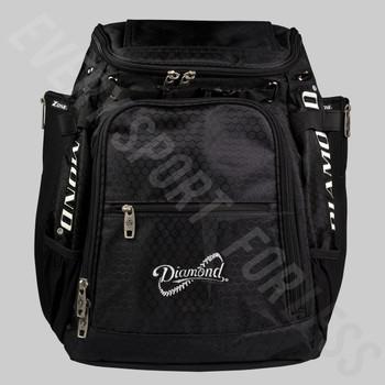 Diamond Zone Baseball / Softball Bat Backpack - Black