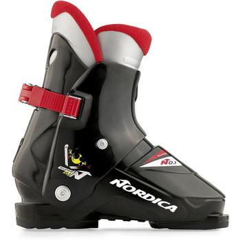Nordica Super 0.1 Rear Entry Junior Ski Boot - Black, Red