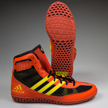 Adidas Mat Wizard 3 Senior Wrestling Shoes BB2859 - Red, Yellow, Black