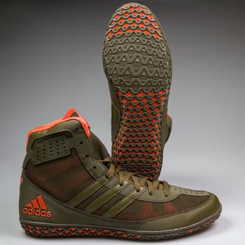 Adidas Mat Wizard 3 Senior Wrestling Shoes BB3297 - Olive, Orange